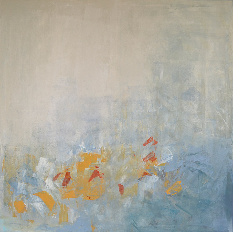 Blue Fellings 1 • acryl on canvas • 100 x 100 x 2 cm