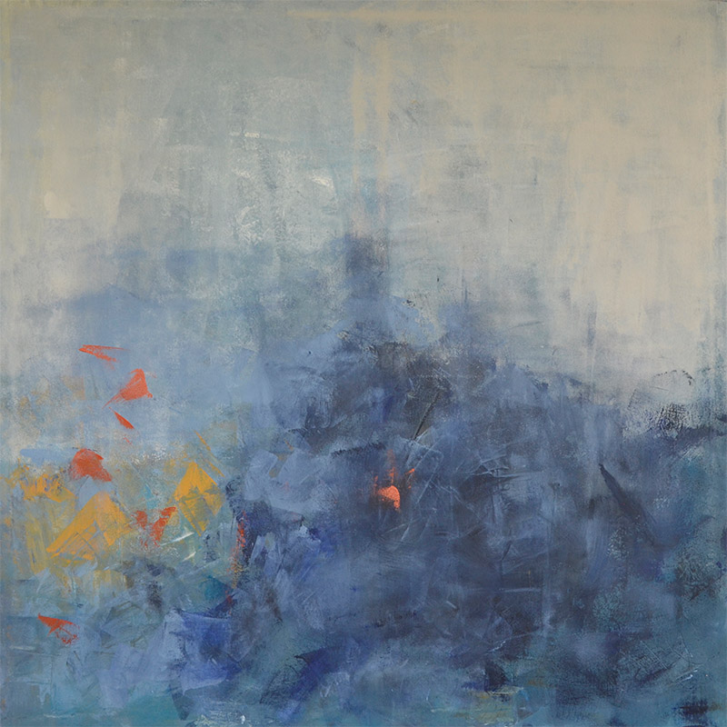 Blue Fellings 2 • acryl on canvas • 100 x 100 x 2 cm