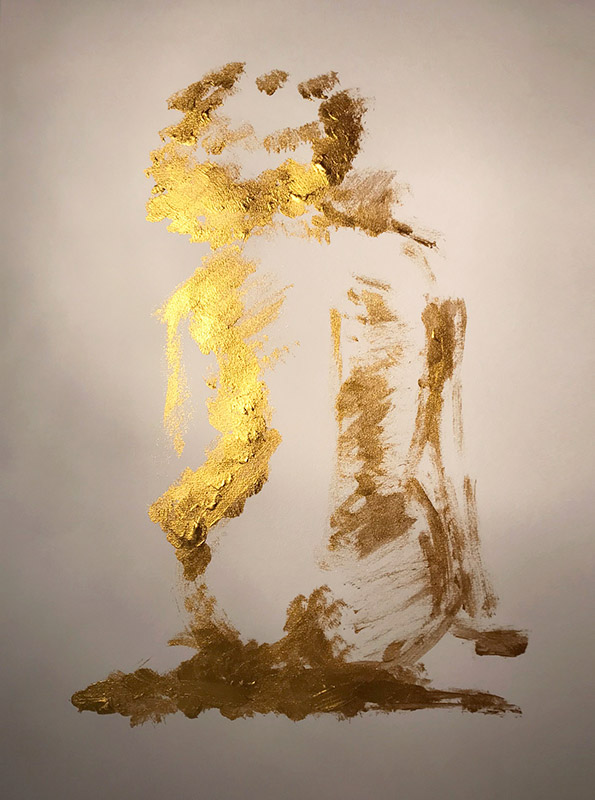 Golden Girl • acryl on paper • 42 x 30 cm