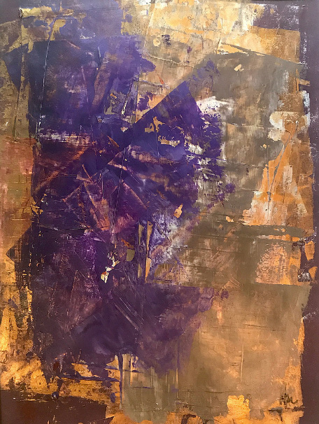 Purple Passion 2 • acryl on paper • 30 x 42 cm